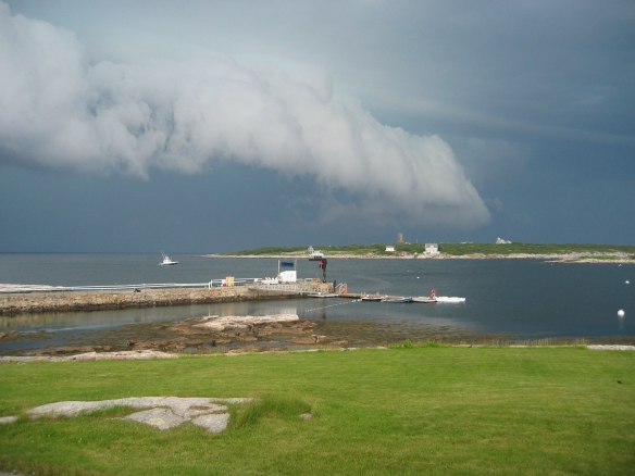 The view over Appledore of it's approach as it brings rains.